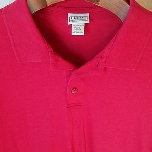 LL Bean LG TALL Polo Shirt Red 262176